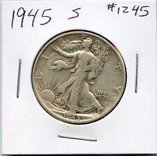 1945-S 50C Walking Liberty Half Dollar. Circulated. Lot #944