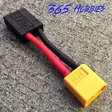QTY-(1) Male XT60 to Female TRX Traxxas Connector Adapter Zippy Revo Slash LiPo