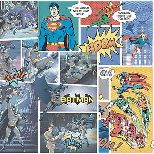 DC Comics Batman Justice League 10m Wallpaper Kids Bedroom Flash Superman