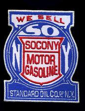 Standard Oil Co. patch badge SoCoNy motor hot rod drag race retro NY