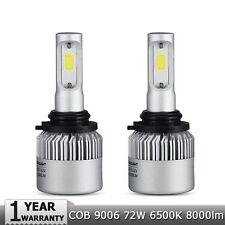2x 9006 HB4 COB LED Car Headlight Conversion Kit Beam Bulbs 72W 8000LM 6000K S2