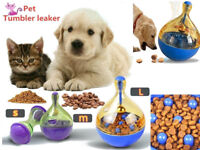 Pet Feeder Dog Puppy Food Tumbler Dispenser Bowl Feeding Cats Toy Leak Food Ball