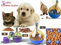 Pet Feeder Dog Puppy Food Tumbler Dispenser Bowl Feeding Cats Toy Leak Food Ball