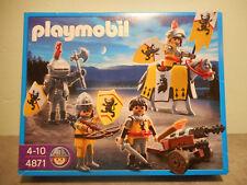 Playmobil 4871 - Chevalier et soldats du lion - Boîte neuve - Château Moyen-âge