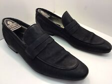 Oliver Sweeney Black Leather Loafer Shoes Size 10. Pointed Toe Slip Ons.