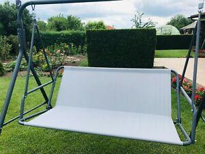 Replacement Part for Swinging Garden Bench Hammock Seat in GREEN BEIGE GREY