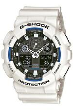 Casio G Shock Mens World Time Ana-Digi White Watch GA-100B-7AER