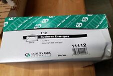 Quality Park #10 White Business Envelopes with Traditional Seam 500 Count 11112