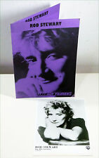 ROD STEWART german ORIGINAL 1986 Promo Photo + TOUR press sheet