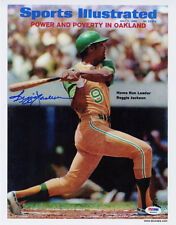 Reggie Jackson SIGNED Sports Illustrated Print A's ITP PSA/DNA AUTOGRAPHED