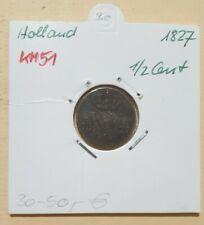 NIEDERLANDE > 1/2 Cent > 1827 > KM 51 > (A 328)