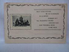 VINTAGE POSTCARD POEM & PICTURE OF PRESBYTERIAN CHURCH IN WEST SALEM OHIO 1915