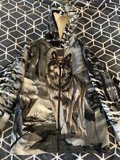 Wildkind Wildlife Wolf Animal Hooded Jacket NEW Sherpa - Size Medium -