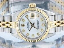 Rolex Datejust Donna In Acciaio Inox e Oro Diamond Watch automatico con documenti