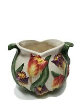 Vintage Fitz & Floyd Tulip Swan Pattern Vase Antique Collectible