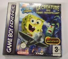 jeu Nintendo Game Boy Advance  gba BOB L'EPONGE La Créature du Crabe Crous  neuf