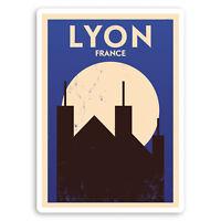 2 x 10cm Lyon France Vinyl Stickers - French Travel Luggage Sticker #30884