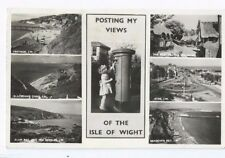 Postcard Posting Views of the Isle of Wight IOW Royal Mail Postbox Pillar Box