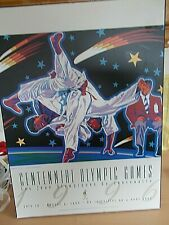 More details for a rare 1996  centenial olympic games wooden poster measures approx 17 1/2