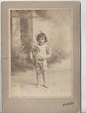 Old Cabinet Photo Child in Bathing Suit or Short Sailor Suit J. Zaphlas Howell