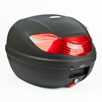 32L MOTORCYCLE TOP BOX Motorbike Helmet Luggage Storage Case Moped Universal