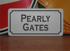 Pearly Gates Metal Sign Halloween Haunted House