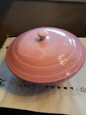 Fiesta Ware Pink Covered Casserole Serving Bowl Homer Laughlin Fiestaware