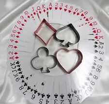 Heart, Diamond, Spade, Club Texas Holdem, Card Game Cookie Cutters Sugar Cookie