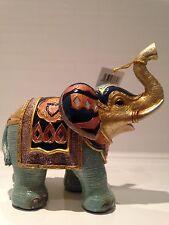 Shudehill Gold Gallery Mirror Elephant Ornament Gift Figurine '17 cm'