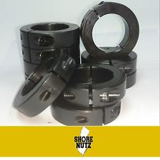 "(10) 3/4"" SINGLE SPLIT STEEL SHAFT COLLAR BLACK OXIDE SC75S SC075S CLAMP 1SC-075"