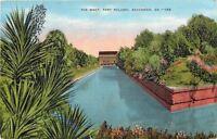 Savannah Georgia~Fort Pulaski~The Moat~1940s Postcard