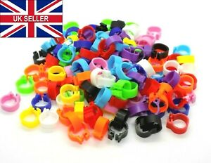 8mm Reusable Birds Foot Rings Poultry Chicken Pigeons Quail Hens Leg Click Clips