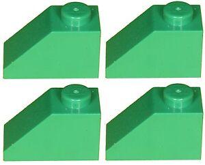 Lego Brick 3040b Green x 4 Slope Brick 45 2 x 1