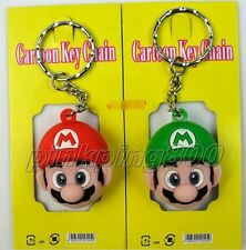 Lot 12Pcs Super mario Bros Key Chains Metal 3D Stereo Key Ring Party Gifts Z385