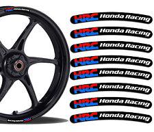 8 HONDA RACING HRC FELGENRANDAUFKLEBER AUFKLEBER AUTO MOTORRAD RIM STICKERS R29