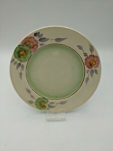 Hand Painted Clarice Cliff Sundew Pattern Art Deco 6 inch Side Plate