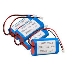 4 x 18650 7.4V 2600mAh Li-ion Rechargeable Batteries Pack with protection PCB