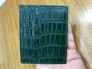GREEN Crocodile leather skin credit card holder Card Case(Make your request)