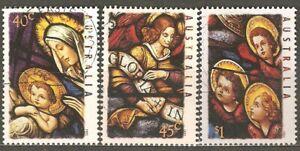 Australia: full set of 3 used stamps, Christmas, 1995, Mi#1523-5