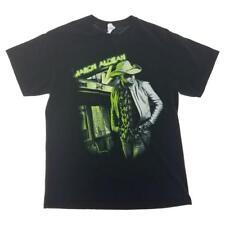 Jason Aldean Black T-Shirt Mens M Night Train 2014 Concert Tour Cities Print