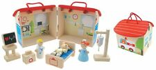 Wooden Toy Collection Preschool Line Hospital Set Pretend Play Gift