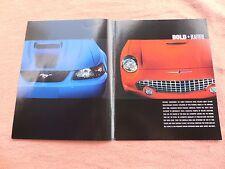 2003,Ford,Legends,Brochure,Mustang Mach1,Thunderbird,Ford Dealer Sales Brochure