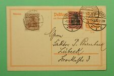 DR WHO 1922 GERMANY INFLATION PERIOD UPRATED POSTAL CARD DUSSELDORF C242421