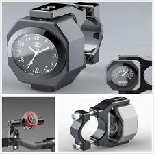 Motorcycle Bike Modified Luminous Clock Time+Waterproof Temperature Alloy Gauge