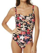 "BRAND NEW + TAG BILLABONG LADIES (8) ""LULLABYE"" ONE PIECE SWIMSUIT BLACK SANDS"