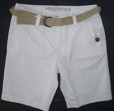 Mens Men's AEROPOSTALE Belted Classic Flat-Front Shorts size 32 NWT #0891
