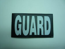 """GUARD WHITE ON BLACK PCX PATCH PAIR 3.5"""" x 2"""" WITH VELCRO® BRAND FASTENER"""