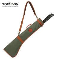 Tourbon Leicht Golfbag Waterproof Canvas Sunday Carrybag Faltbar mit Ledergriff