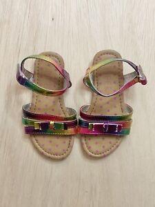 Piper Toddler Girl Sandals Size 7 Colorful & Fun Polka Dot Strappy Sandal
