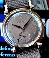 Vintage USA Made Bulova Elegant 14k Pink Gold-Fill Watch Manual Movement Runs ++